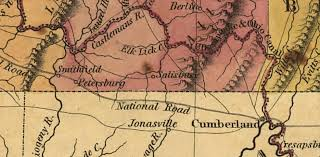 Map Of The Ohio River by 1829 Young U0026 Finley Map