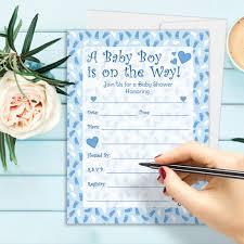 Invitation Card Baby Shower It U0027s A Boy Baby Shower Invitation Cards With Envelopes Set Of 25