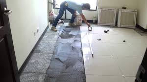 floor tile installation polished porcelain 60x60cm
