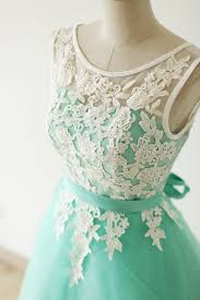pretty handmade turquoise tulle short prom dress with white
