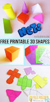 free printable nets to make 3d shapes perfect hands on tool for