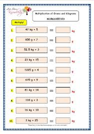 grade 3 maths worksheets 12 5 multiplication of grams and