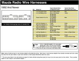 mazda stereo wiring diagram mazda wiring diagrams instruction