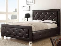 Upholstered And Wood Headboard Bedroom Breathtaking Full Size Low Loft Bed Dark Wooden Night