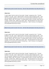ks4 spag correction exercises teachit english