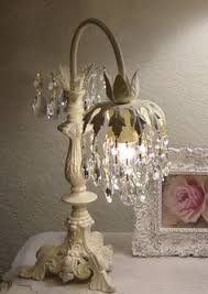 Shabby Chic Light Fixture by Amazing Shabby Chic Table Lamp Lighting Crystal Craft