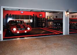 three car garage free flow self draining garage flooring racedeck