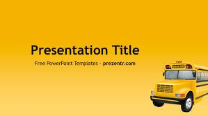 free bus powerpoint template prezentr