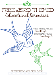 free bird themed educational resources free homeschool deals