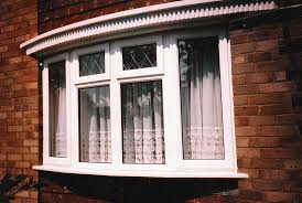 Home Design Windows Free Exterior Entranching Curved White Stained Wooden Bay Windows For