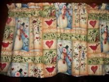 Snowman Curtains Kitchen Curtain Fabric Ebay