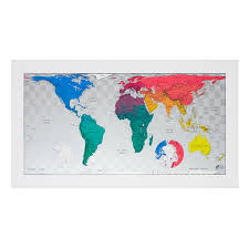 Large World Map Poster by Magnetic Future Map Old World Bulletin Board Cartography