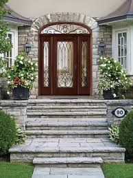 outstanding home fiberglass entry door with arched style and