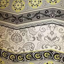 Indoor Outdoor Fabric For Upholstery Flower Show Black Yellow Indoor Outdoor Fabric Drapery Fabrics