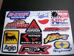 fox motocross stickers stickerpunks wholesale supplies fox racing hrc taper redbull