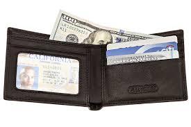 Money Clip Wallet Id Window Rfid Blocking Wallet Bifold Leather Wallet Can Block Rf Signals