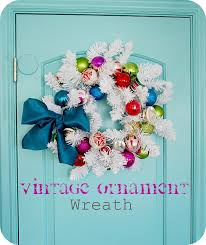 make a vintage ornament wreath tutorial tatertots and jello