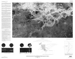 Venus Map Radar Image Map Of The Aphrodite Planitia Region Of Venus