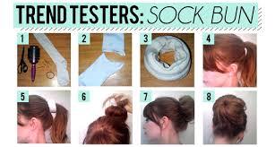 sock hair bun how to get that fabulous sock bun hairdo rachaellee