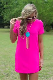 hot pink dress it s a date dress hot pink shift dress lavish boutique