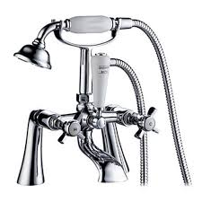 bathtub faucet with shower attachment contemporary inspired tub faucet with hand shower chrome finish