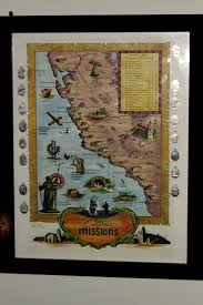 California Missions Map Collecting Charms The Enchanted Manor