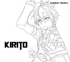 12 pics of sword art online anime coloring page sword art online