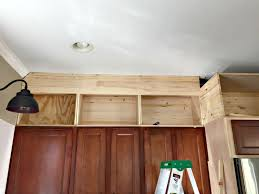 Decorating Ideas For Above Kitchen Cabinets Building Cabinets Up To The Ceiling From Thrifty Decor