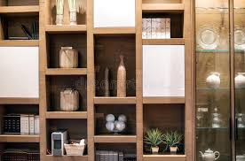 wooden interior wall unit with ornaments stock photo image 70567703