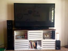 Wooden Crate Shelf Diy by Best 25 Crate Tv Stand Ideas On Pinterest Cheap Wooden Tv