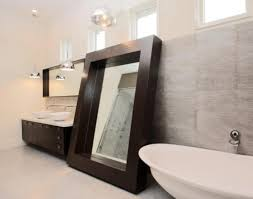 bathroom modern bathroom mirror to reflect impression of future