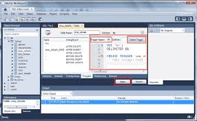 Mysqlwork Bench Mysql Triggers W3resource