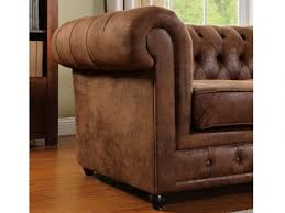 canap chesterfield microfibre canap et fauteuil microfibre vieilli vintage chesterfield