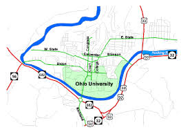 ohio map of cities maps