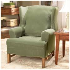 wingback couch furniture fabulous canvas wingback chair slipcovers slipcovers