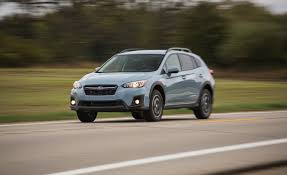 red subaru crosstrek 2018 subaru crosstrek manual test review car and driver