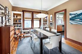 dining room in renovated craftsman 1920 bungalow mix of modern