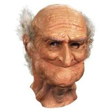 old man realistic old man mask halloween adult scary creepy funny grandpa