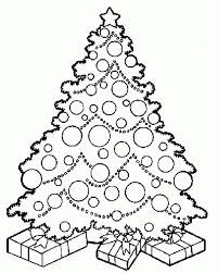 coloring pages of presents christmas tree with presents drawing designcorner
