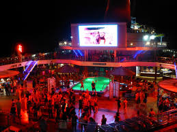 great deck parties at night on the carnival sunshine carnival