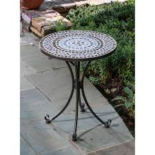 mosaic electric patio heater alfresco home tremiti mosaic outdoor bistro table ultimate patio