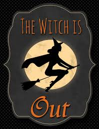 Free Printable Halloween Signs by Free Halloween The Witch Is In U0026 The Witch Is Out Printable