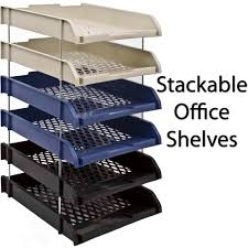 Office Desk Trays by Plastic Stackable A4 Paper Letter Document Stationary In Out