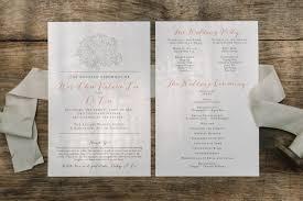 wedding program book wedding programs half sheet scotti cline designs