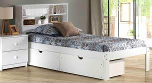 Platform Beds White Platform Bedsolid Wood Bookcase Platform Bed In Pecan Shown With