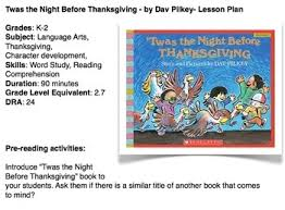 twas the before thanksgiving by pilkey by mrs lena tpt