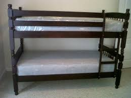 Bunk Bed With Mattress Lind Style Wood Bunk Beds With Two Mattress