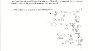 recycled inequalities students are asked to solve a real world