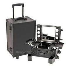 Makeup Artist Light Studio Makeup Case W Led Lights Mirror U0026 Legs Black Makeup