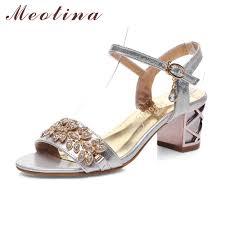 Wedding Shoes Size 9 Meotina Shoes Women Sandals Luxury Bridal Shoes Summer Open Toe